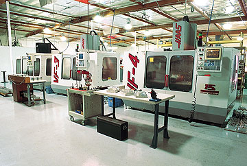 Three of company's CNC machines. These American made CNC's run only the highest grade American made raw materials.